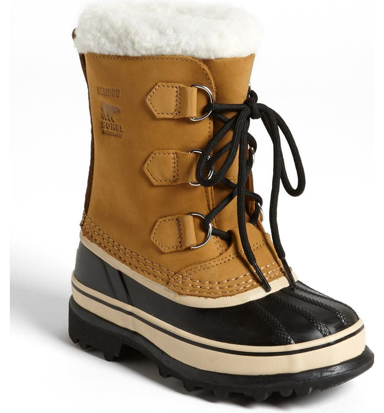 SOREL Caribou Waterproof Boot, Main, color, BUFF