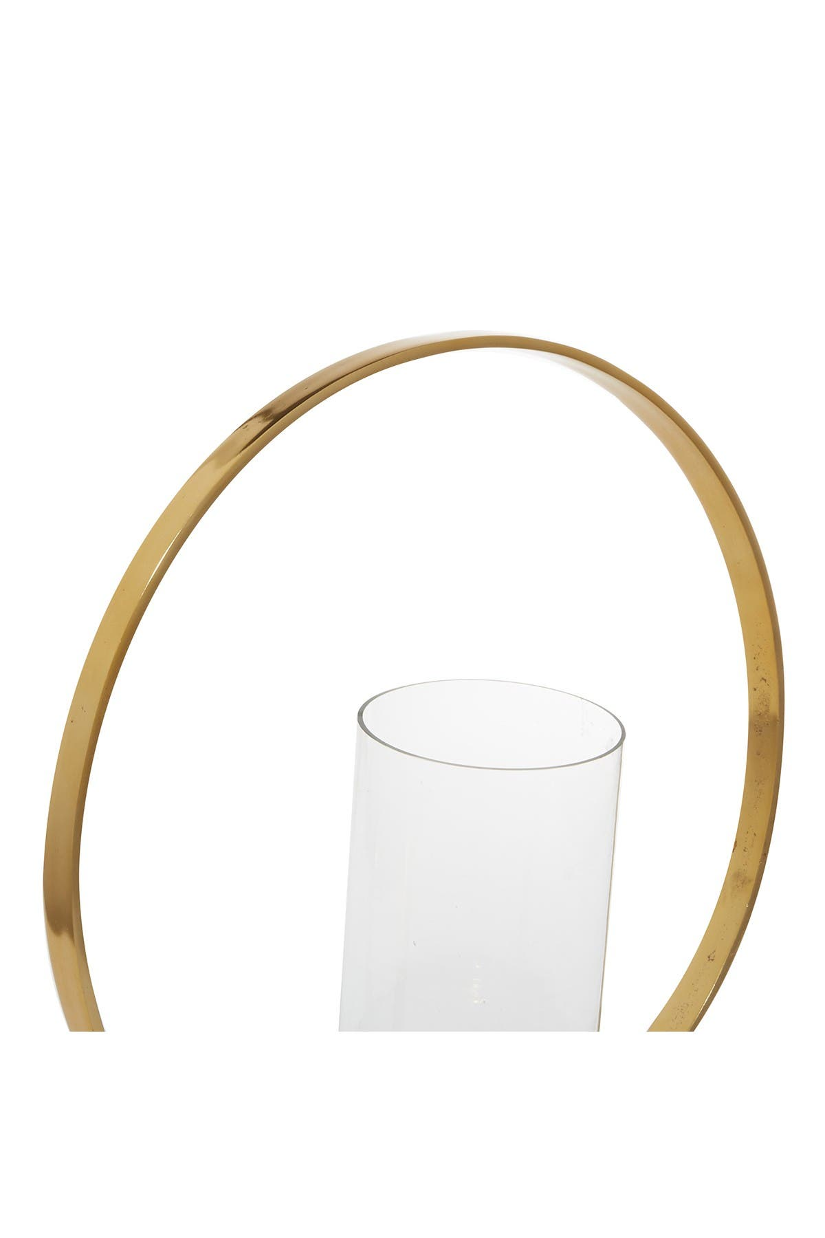 """Image of Willow Row Gold Aluminum Contemporary Candlestick Holder - 19"""" x 16"""" x 5"""""""