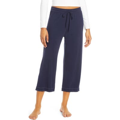 Groceries Apparel Lara Step Hem Crop Lounge Pants, Blue