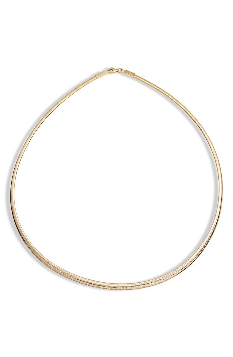 BONY LEVY Ofira Thin Omega Necklace, Main, color, 710