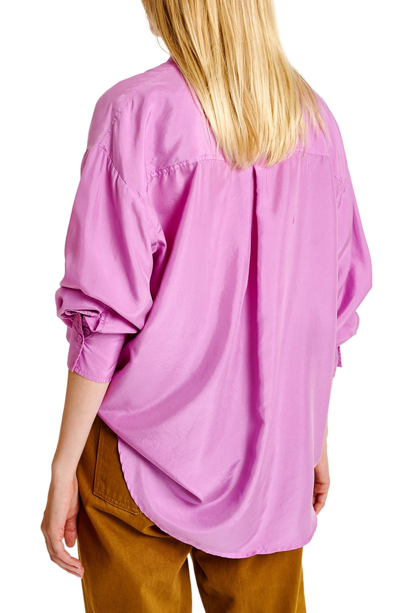 Washed Silk Button-Up Shirt