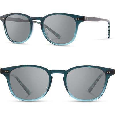 Shwood Kennedy 50mm Polarized Sunglasses - Deep Sea / Grey