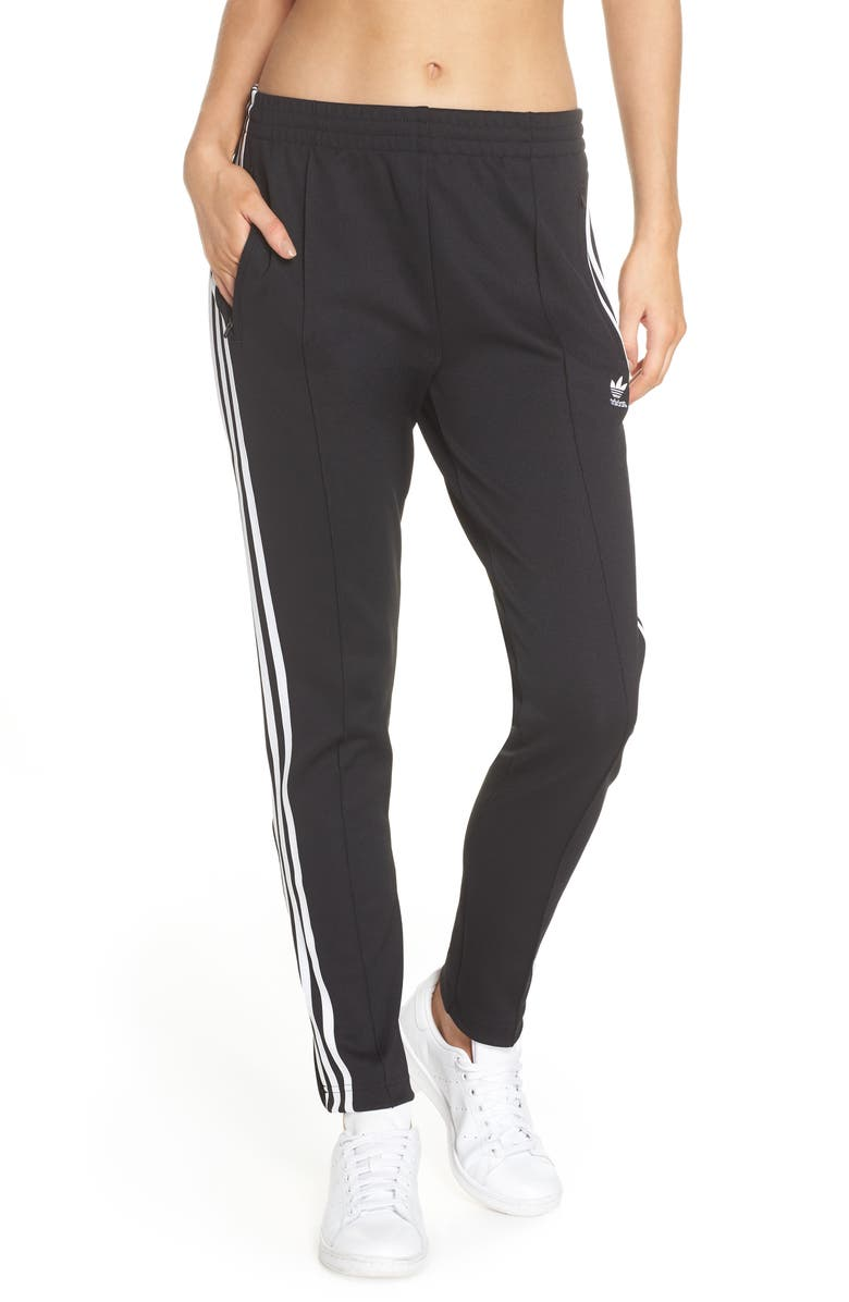 ADIDAS ORIGINALS adidas SST Track Pants, Main, color, BLACK