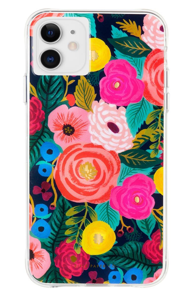 CASE-MATE<SUP>®</SUP> x Rifle Paper Co. Juliet Rose iPhone 11, 11 Pro & 11 Pro Max Case, Main, color, MULTI