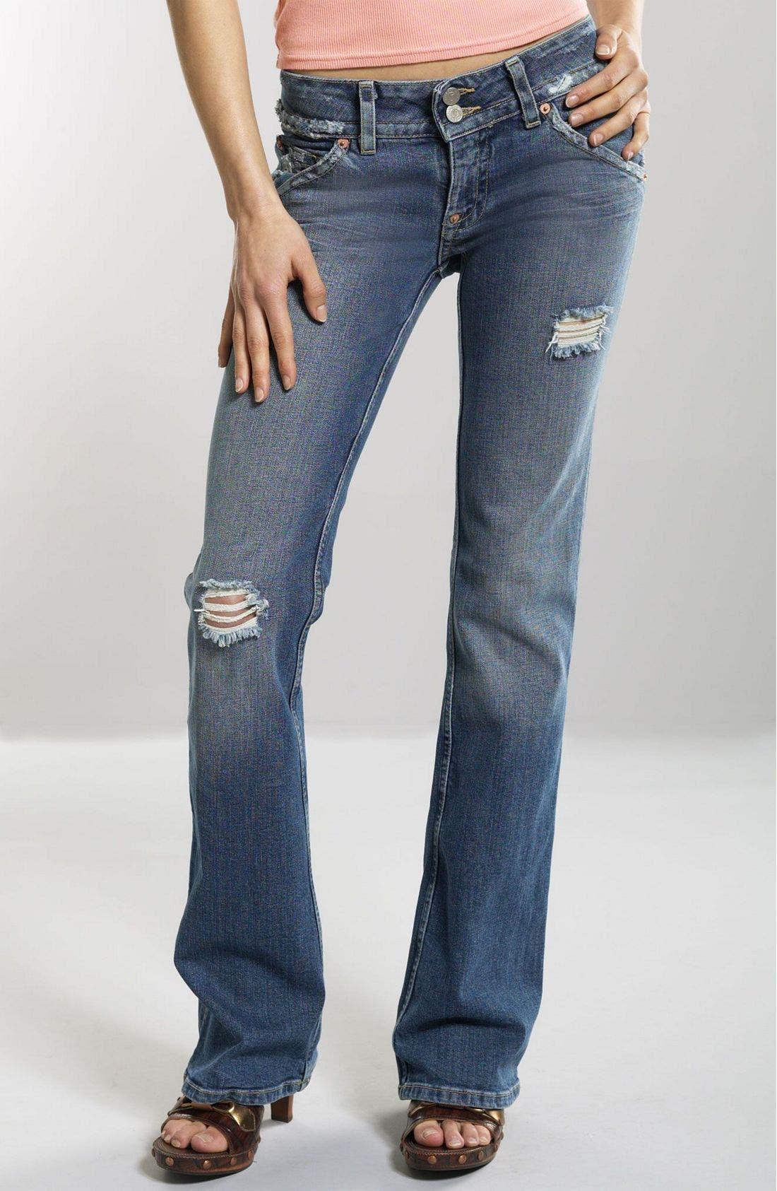 ,                             Signature Flap Pocket Bootcut Jeans,                             Main thumbnail 95, color,                             DFV