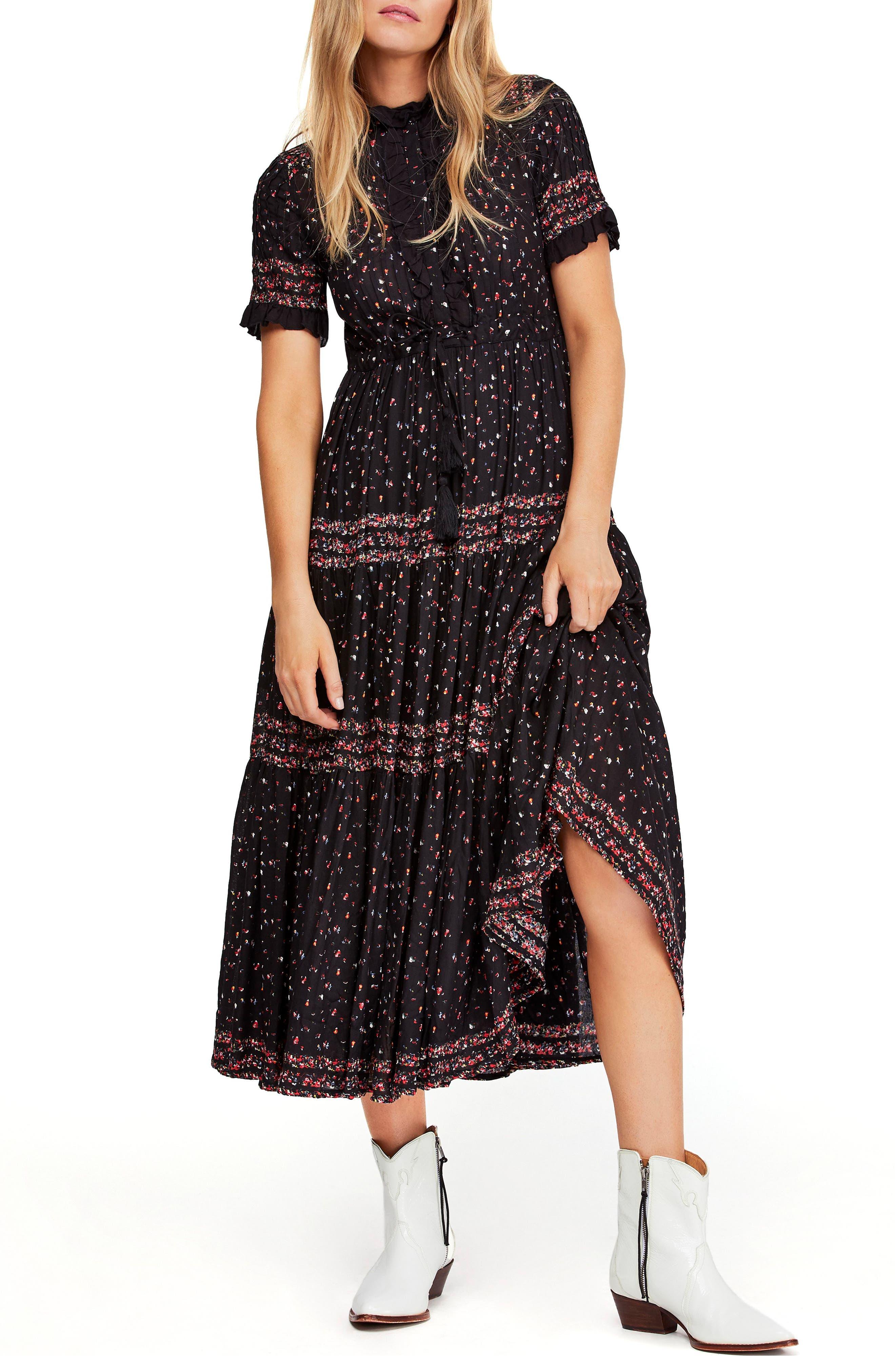 Rare Feeling Pleated Maxi Dress