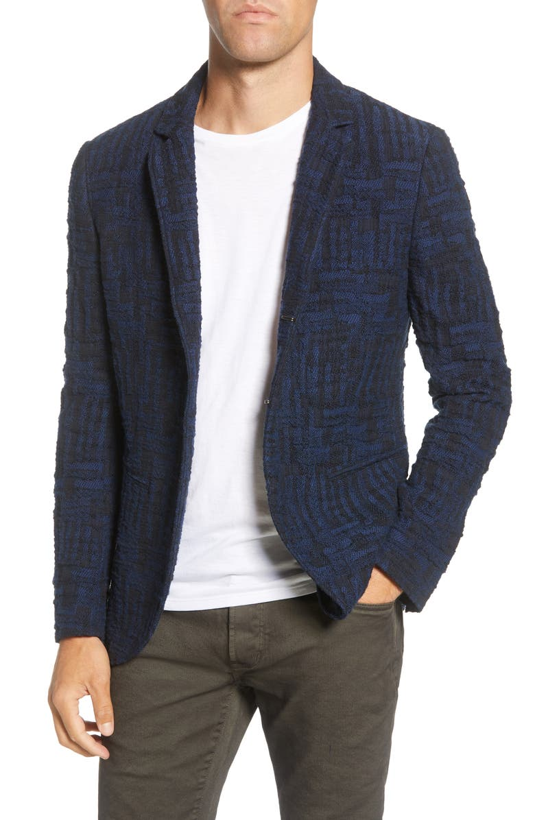 JOHN VARVATOS Slim Fit Sport Coat, Main, color, NAVY