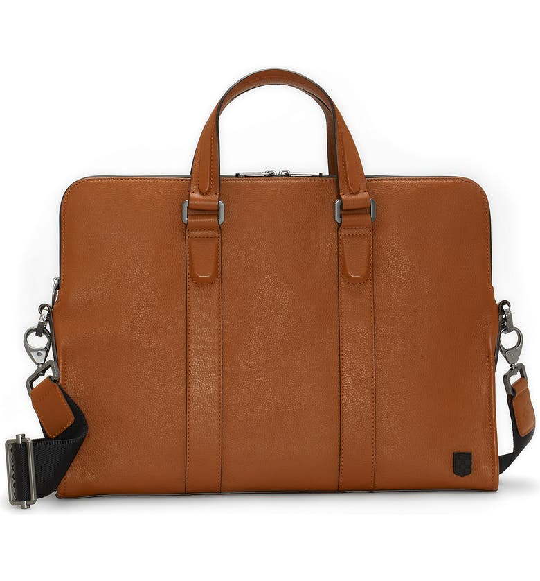 VINCE CAMUTO Dopia Leather Briefcase, Main, color, 201