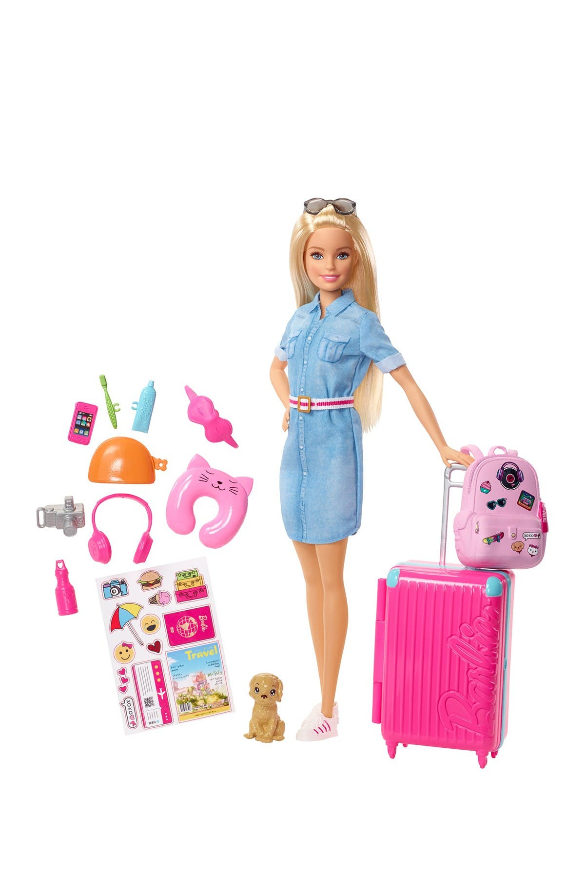 Image of Mattel Barbie(R) Doll & Travel Accessories Set