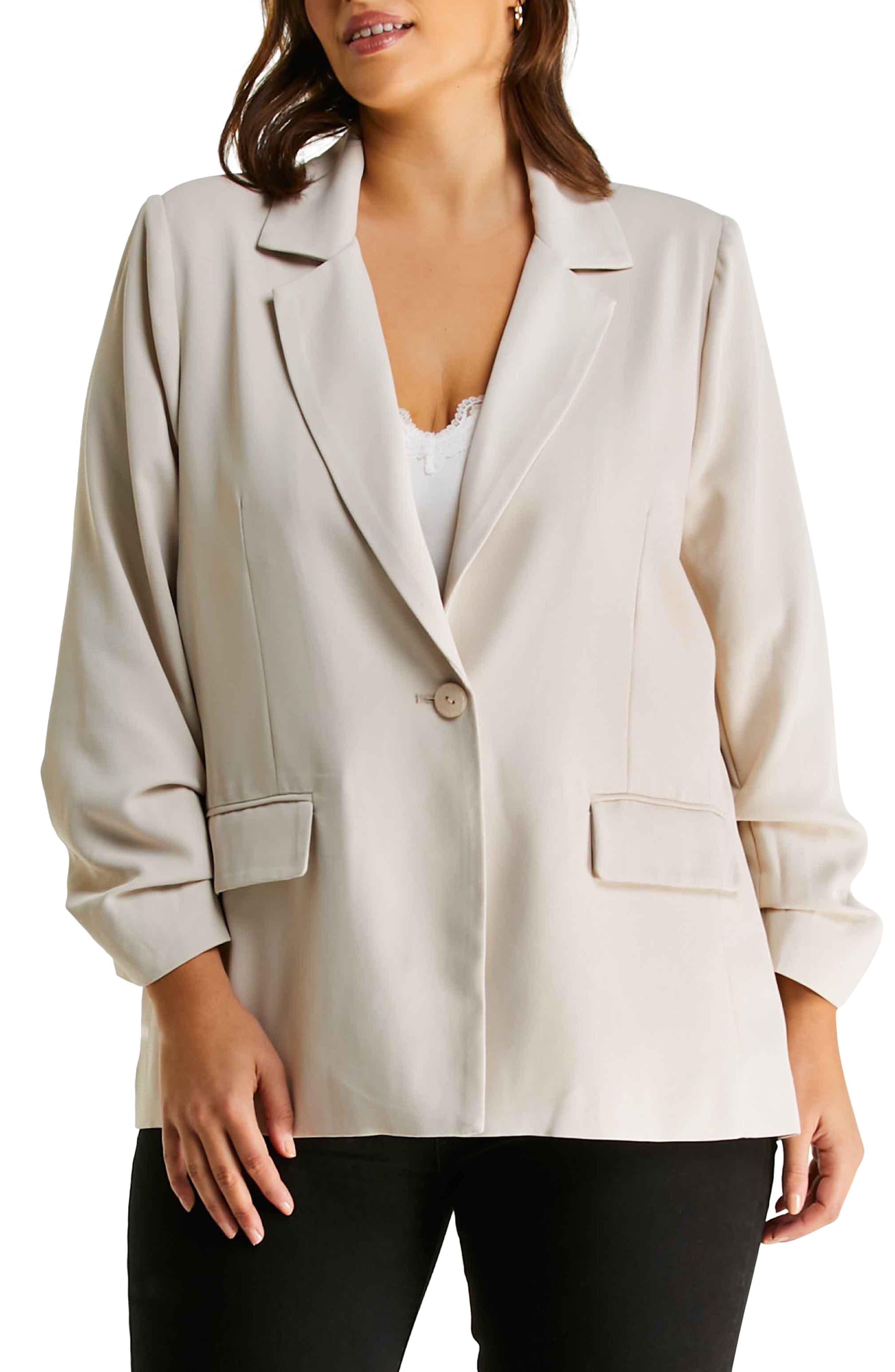 Demi Ruched Sleeve Jacket