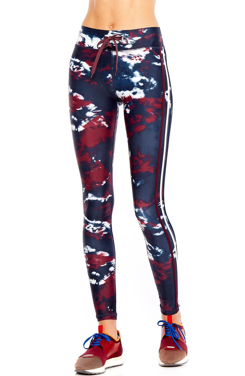 THE UPSIDE Royal Tie Dye Yoga Pants, Main, color, 400