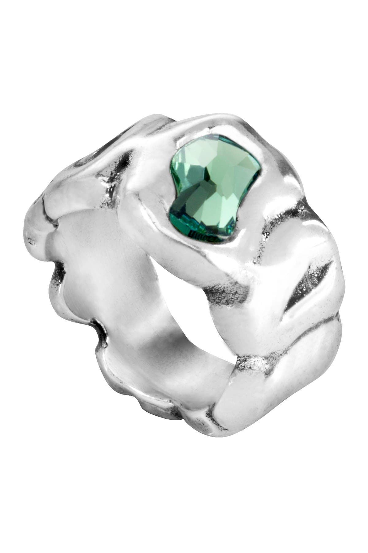 Image of Uno De 50 Sinner Swarovski Crystal Accented Ring