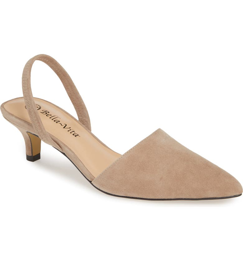BELLA VITA Sarah II Slingback Pump, Main, color, ALMOND SUEDE