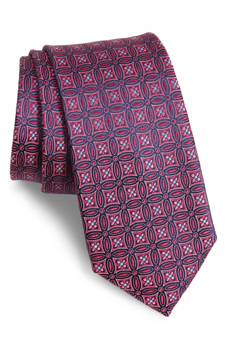 TED BAKER LONDON Medallion Silk X-Long Tie, Main, color, 650