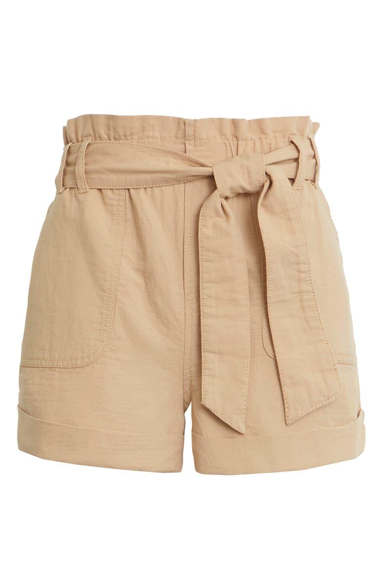 BP. Paperbag Shorts, Main, color, TAN SESAME