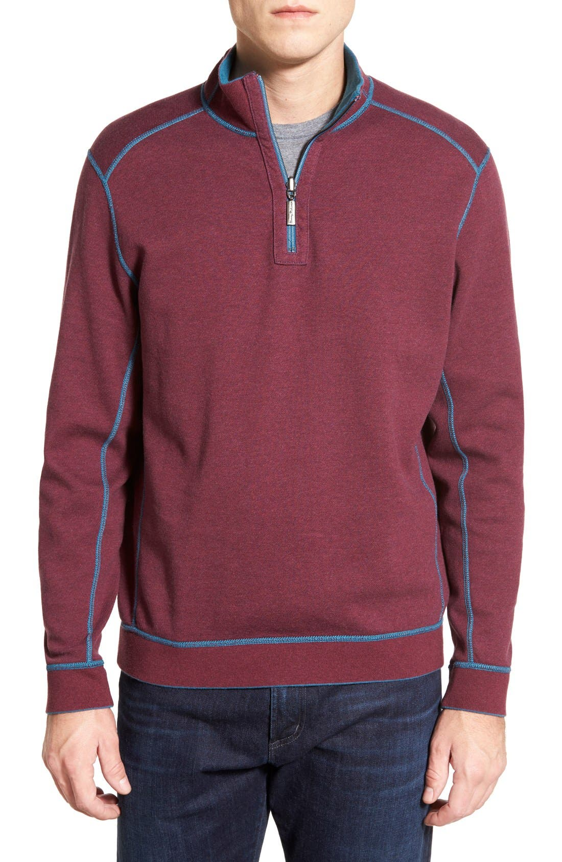 ,                             'Flip Side' Reversible Quarter Zip Pullover,                             Alternate thumbnail 10, color,                             001