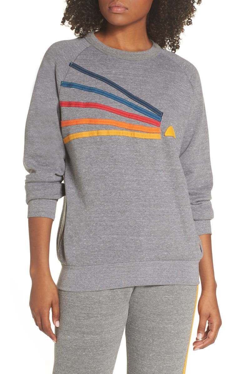 AVIATOR NATION Daydream Sweatshirt, Main, color, HEATHER GREY