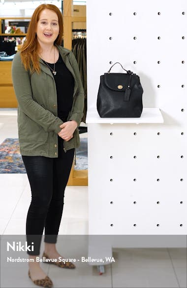 Georgia Faux Leather Backpack, sales video thumbnail