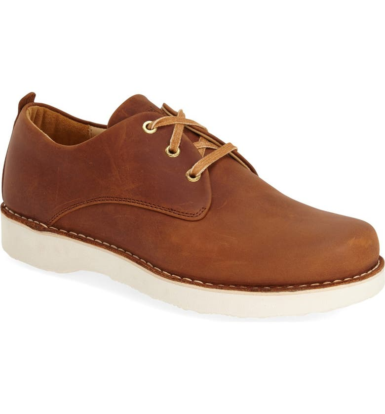 SAMUEL HUBBARD 'Free' Plain Toe Derby, Main, color, TAN WAXHIDE
