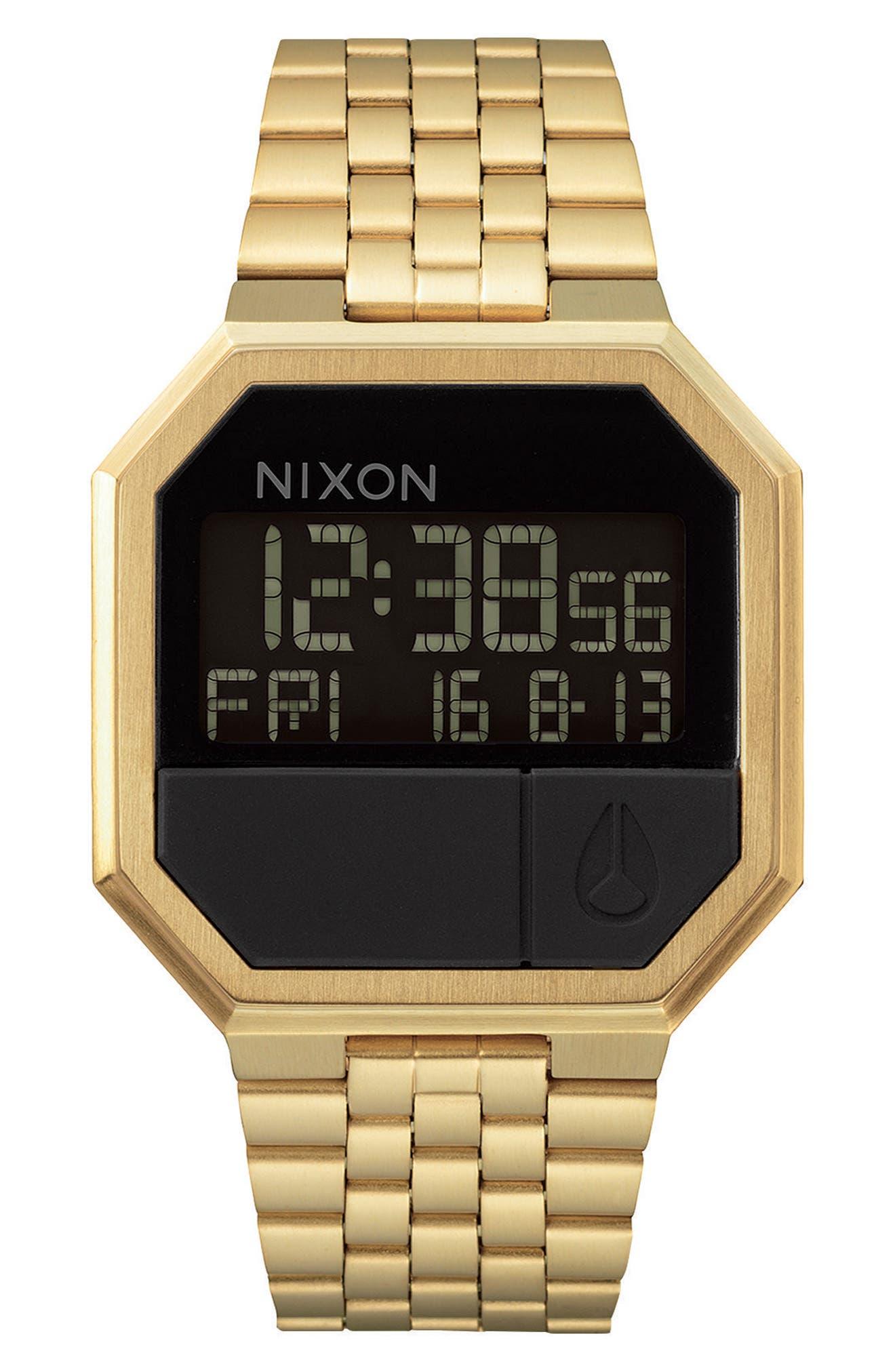 ,                             Rerun Digital Bracelet Watch, 39mm,                             Main thumbnail 1, color,                             GOLD/ BLACK/ GOLD