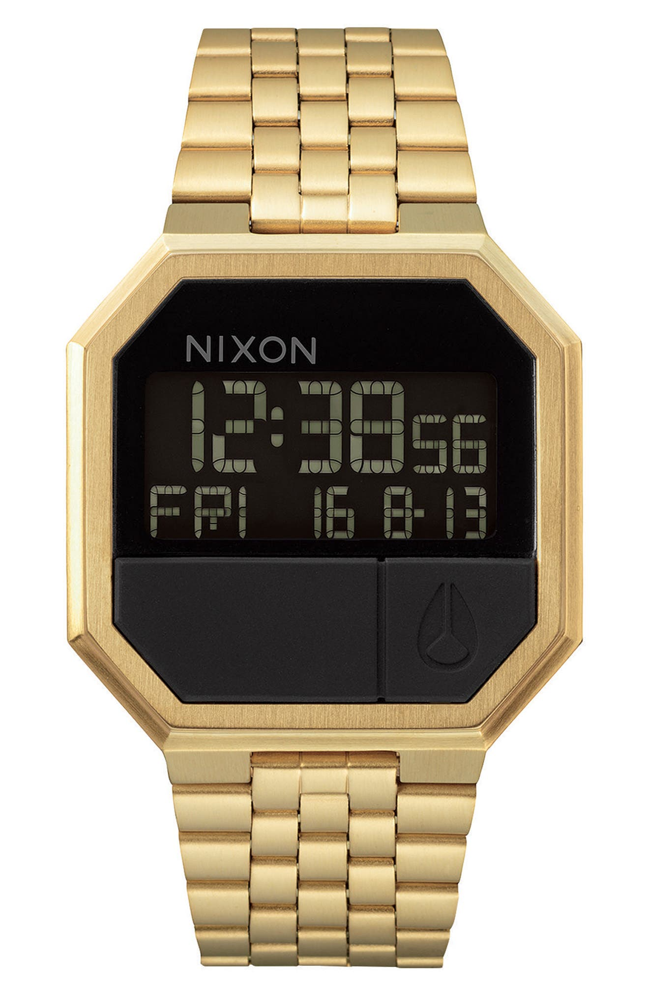 Rerun Digital Bracelet Watch, 39mm, Main, color, GOLD/ BLACK/ GOLD