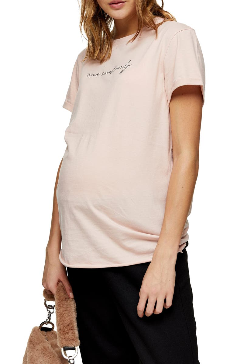 TOPSHOP One and Only Maternity Tee, Main, color, 650