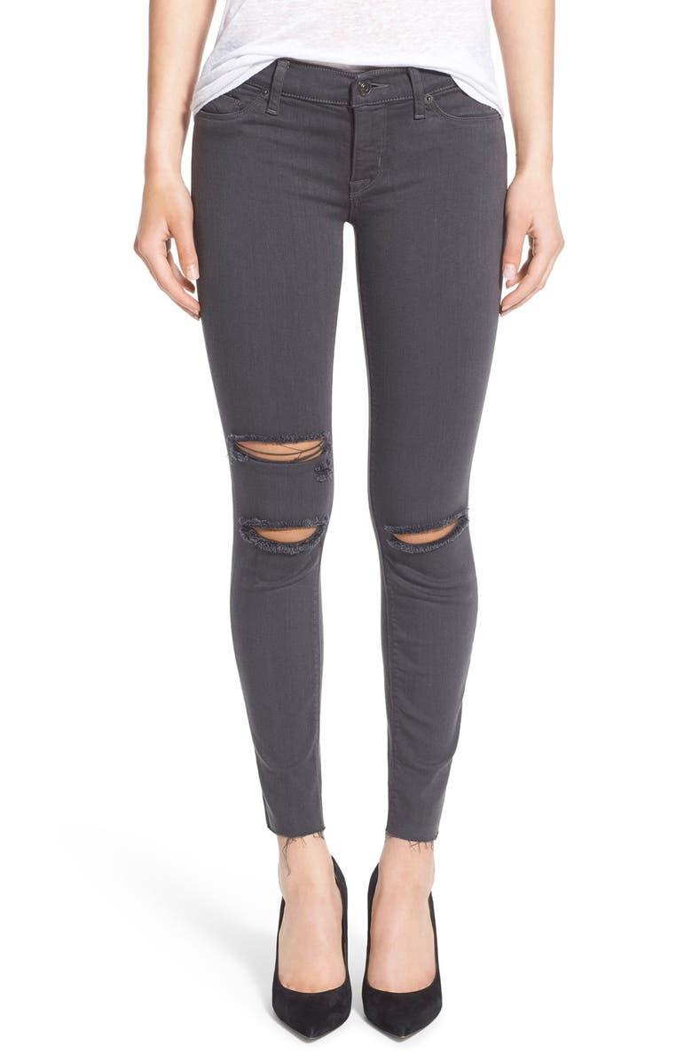 HUDSON JEANS 'Krista' Destroyed Crop Skinny Jeans, Main, color, 021