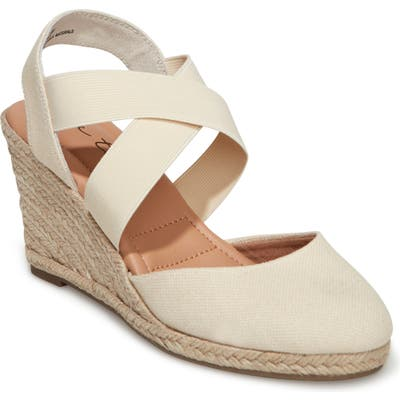 Me Too Brinley Espadrille Wedge, Beige