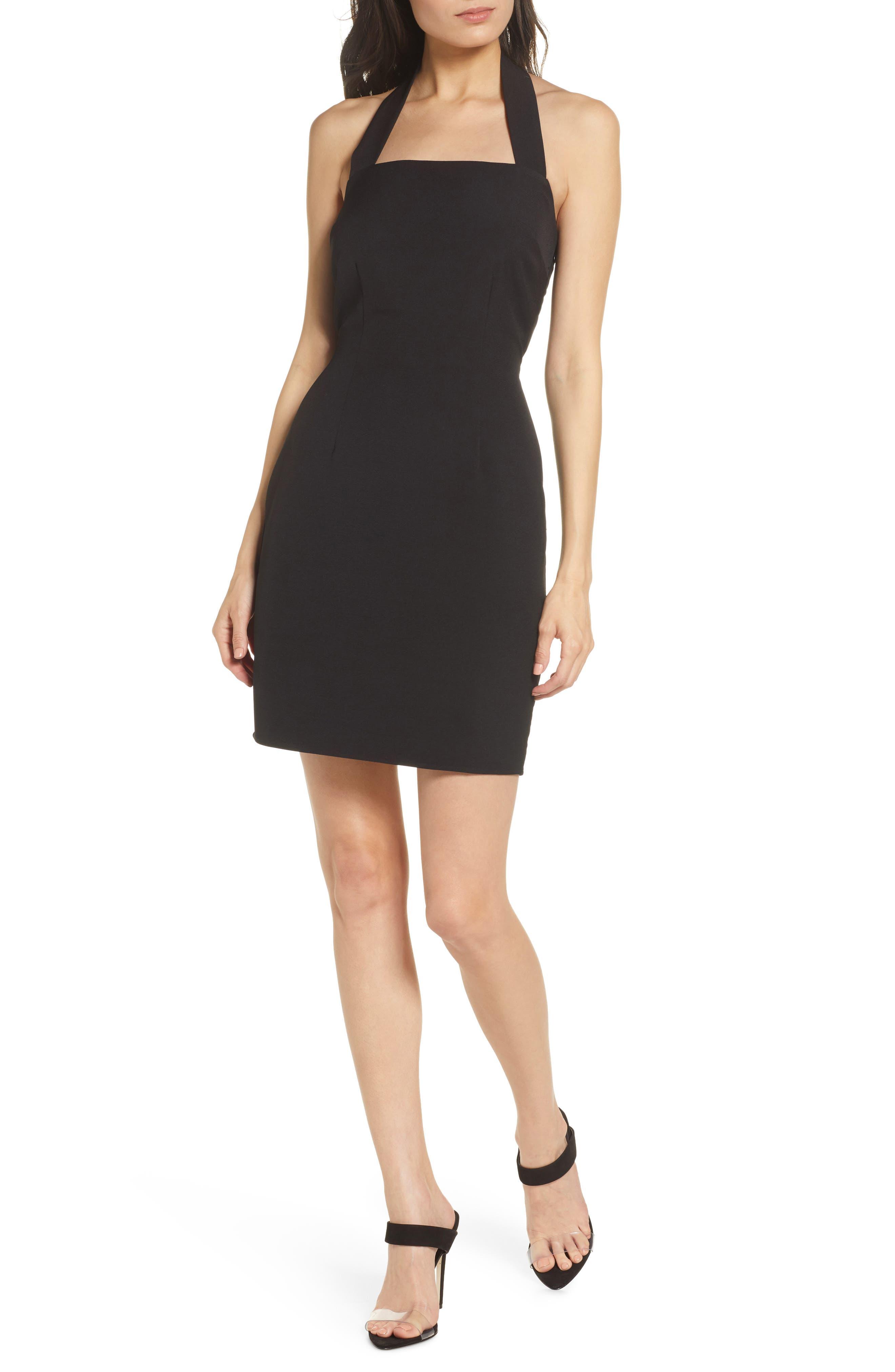 Nsr Victoria Halter Neck Cocktail Dress, Black