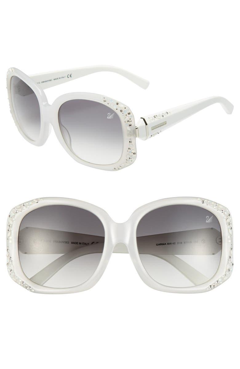SWAROVSKI 57mm Oversized Sunglasses, Main, color, 193