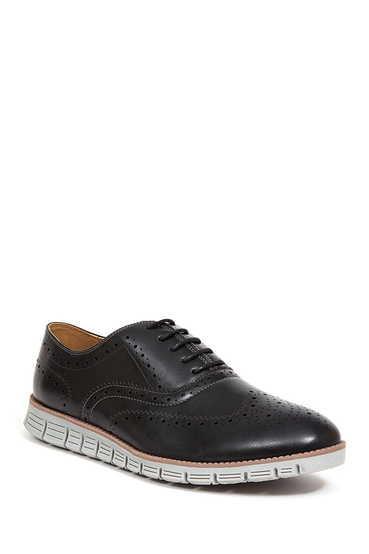Image of Deer Stags Benton Jr. Classic Lace-Up Wingtip Hybrid Sneaker Dress Comfort Oxford