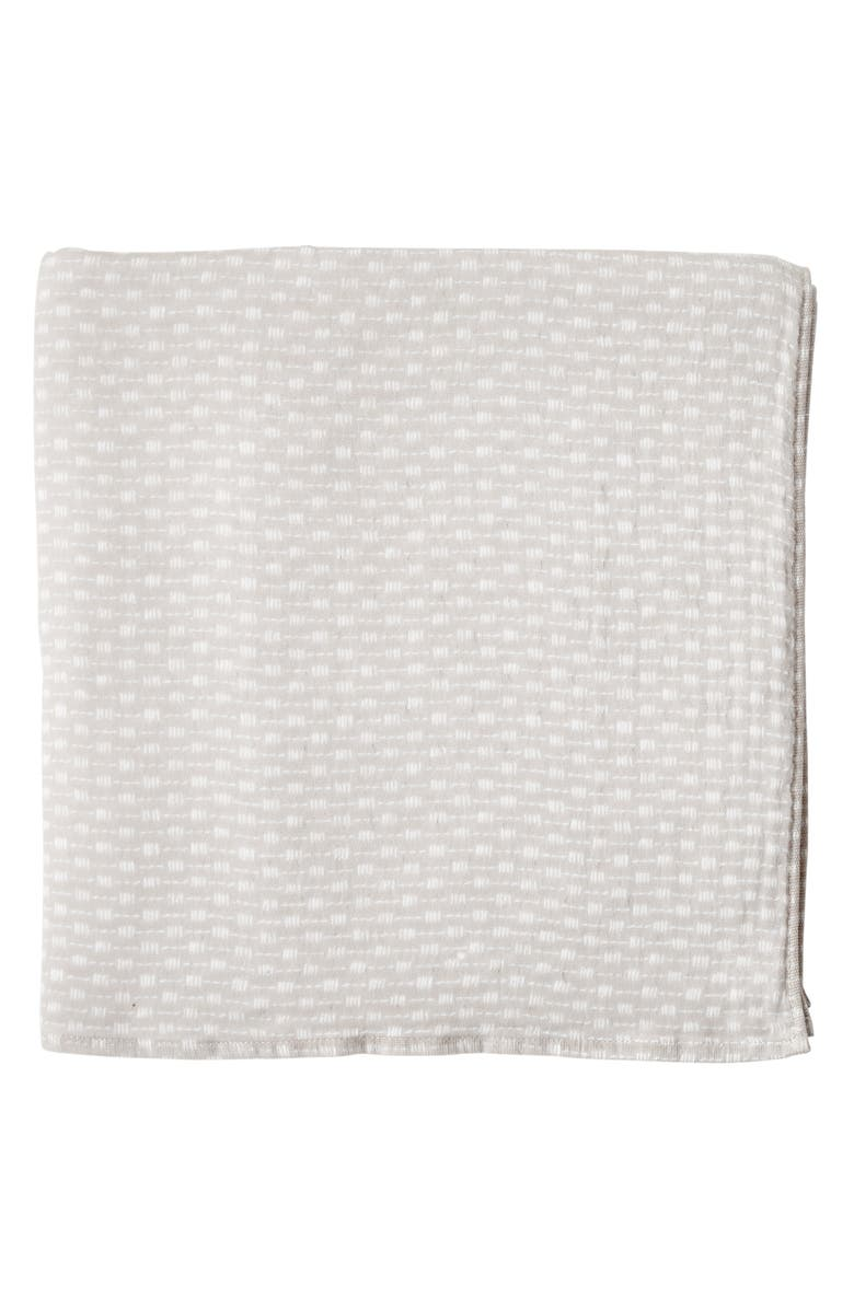 UCHINO Wicker Print Waffle & Pile Bath Towel, Main, color, LINEN