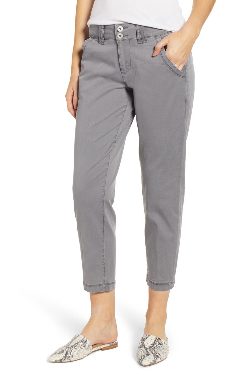 JAG JEANS Flora Crop Pants, Main, color, GREY STREAK