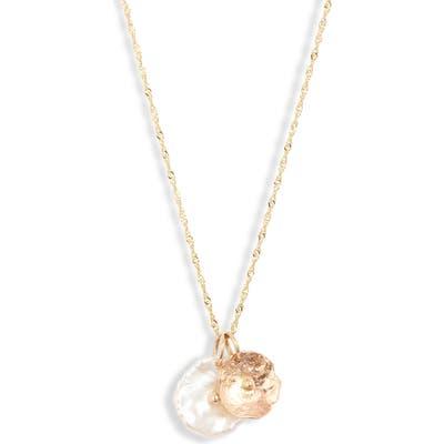 Poppy Finch Pearl Petal Pendant Necklace