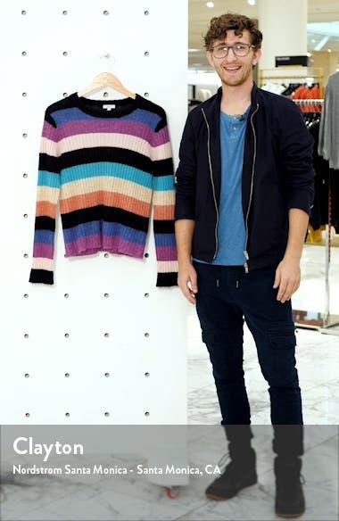 Kylie Stripe Alpaca & Merino Wool Blend Sweater, sales video thumbnail