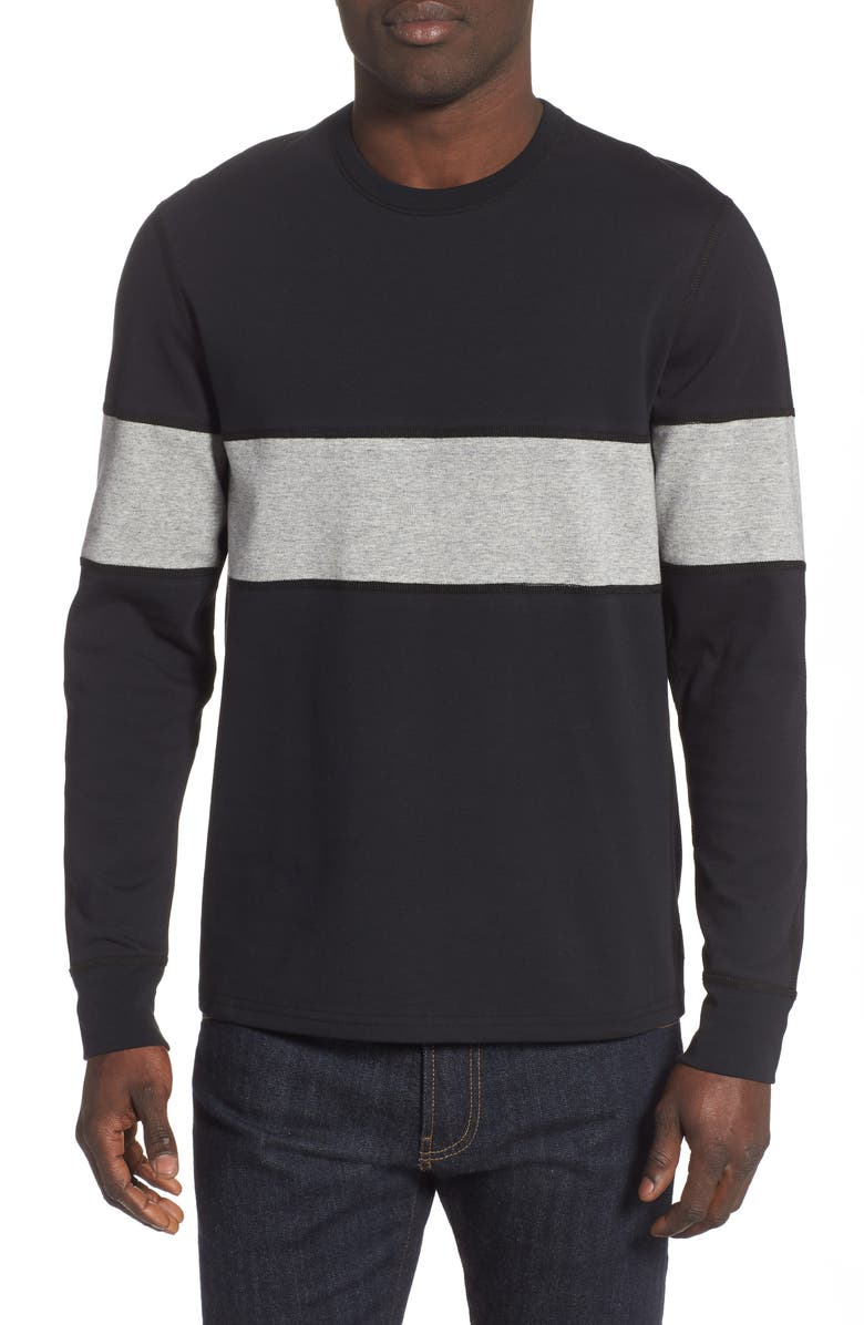 REIGNING CHAMP Rugby Crewneck Sweatshirt, Main, color, 008
