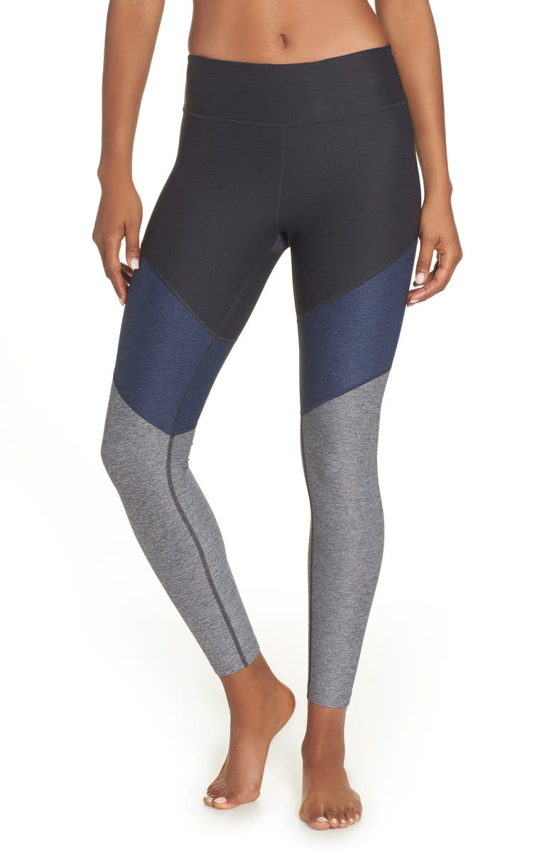 OUTDOOR VOICES 7/8 Springs Leggings, Main, color, CHARCOAL/ NAVY/ GRAPHITE