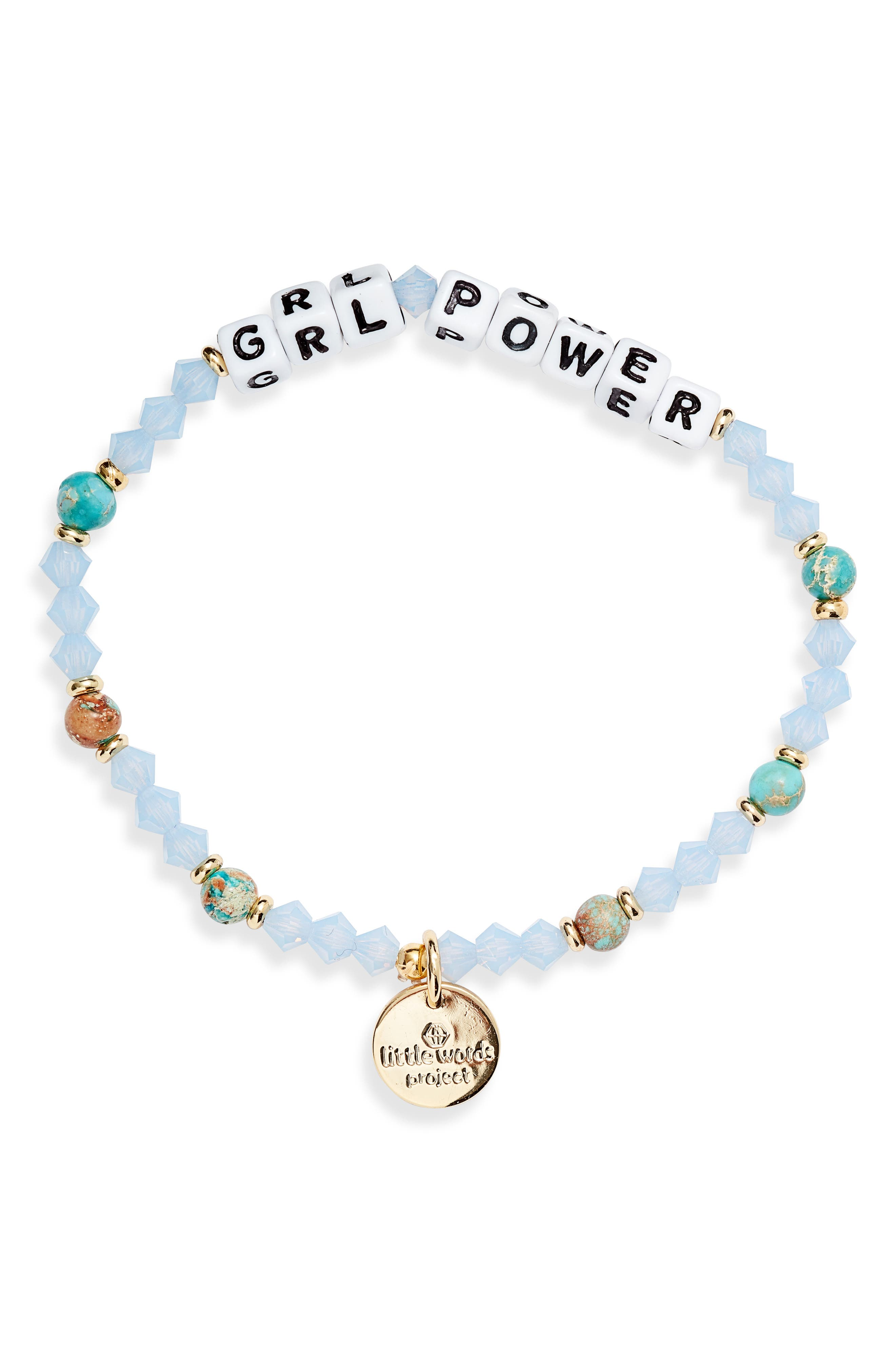 Grl Power Beaded Stretch Bracelet