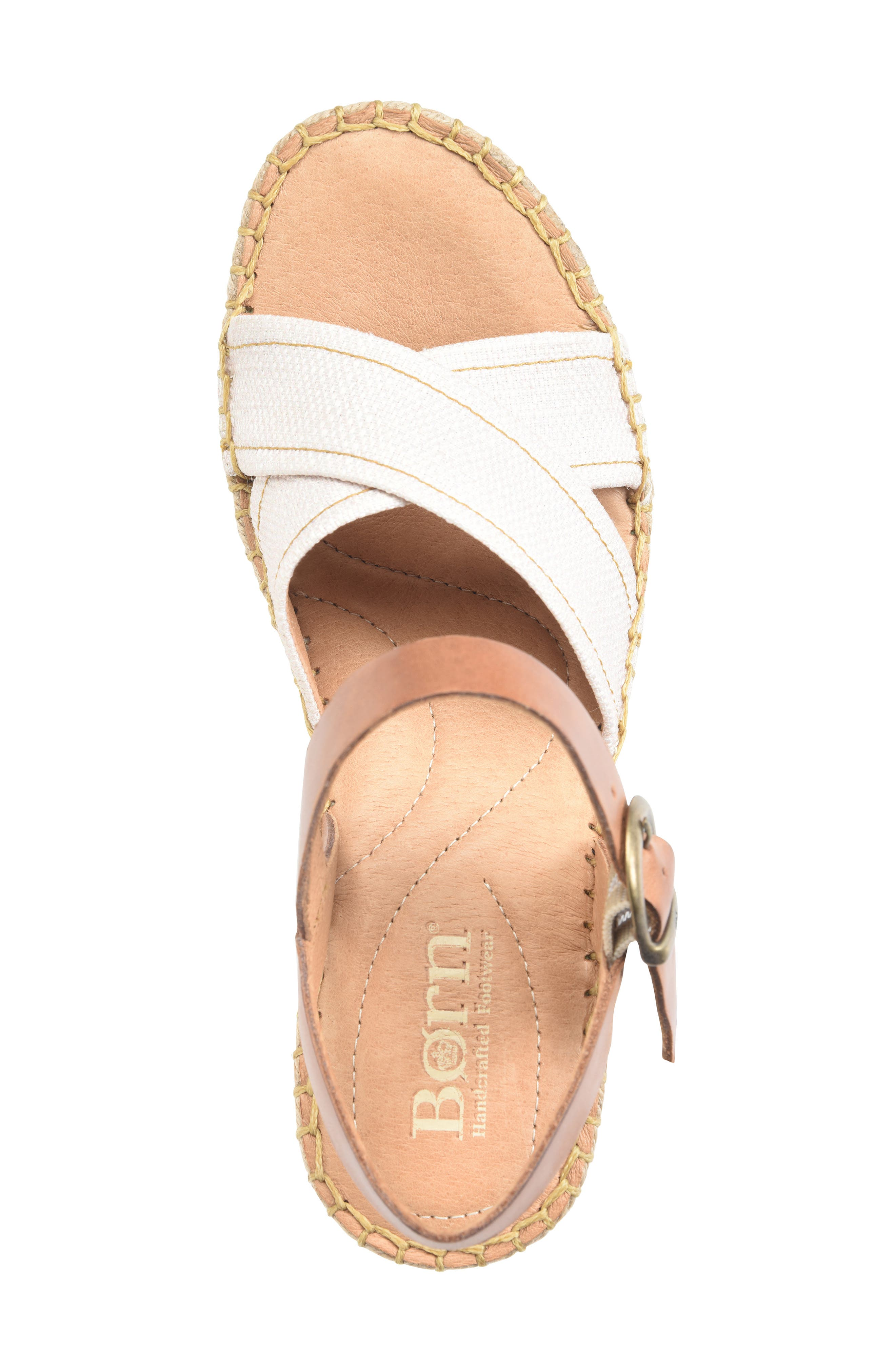 ,                             Payette Wedge Sandal,                             Alternate thumbnail 5, color,                             NATURAL/ TAN LEATHER