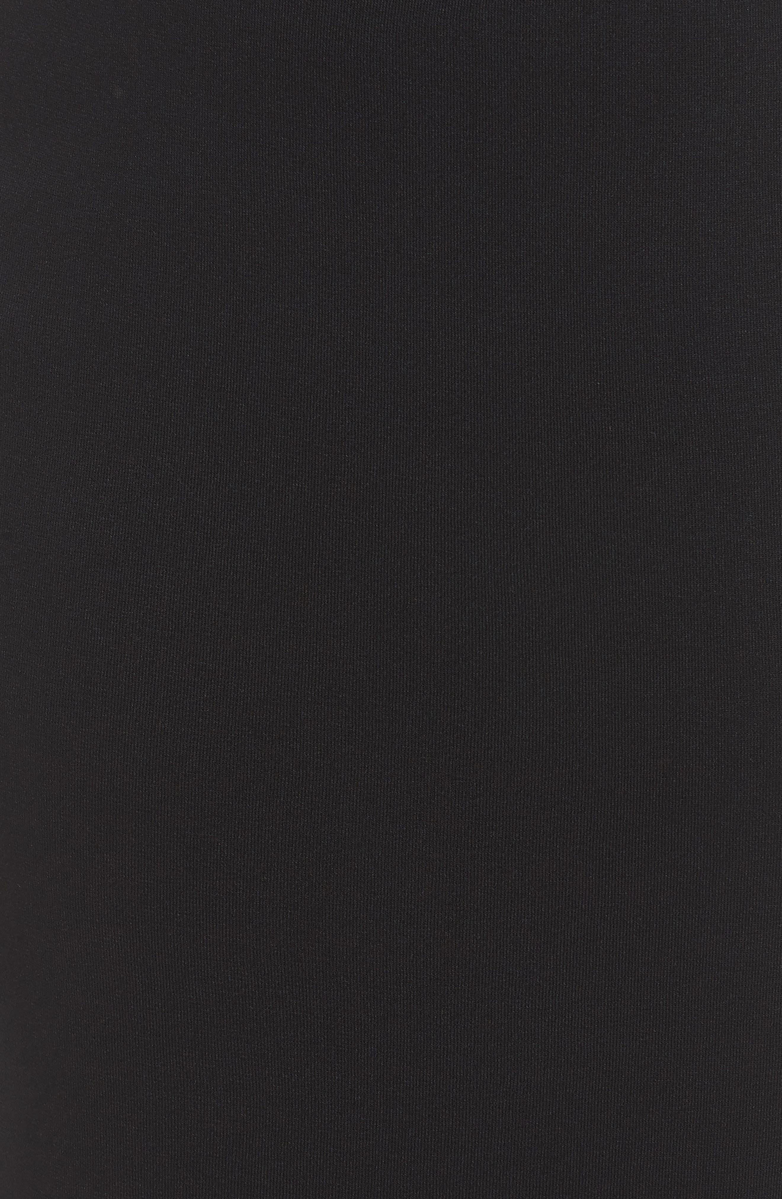 ,                             Knit Midi Skirt,                             Alternate thumbnail 5, color,                             BLACK