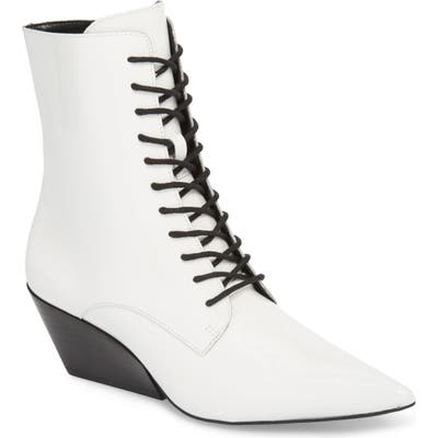 Calvin Klein Jeans Faith Pointy Toe Laced Bootie- White