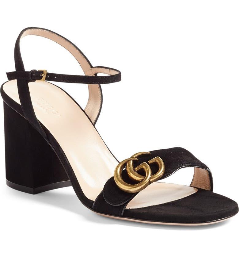 GUCCI GG Marmont Sandal, Main, color, 001