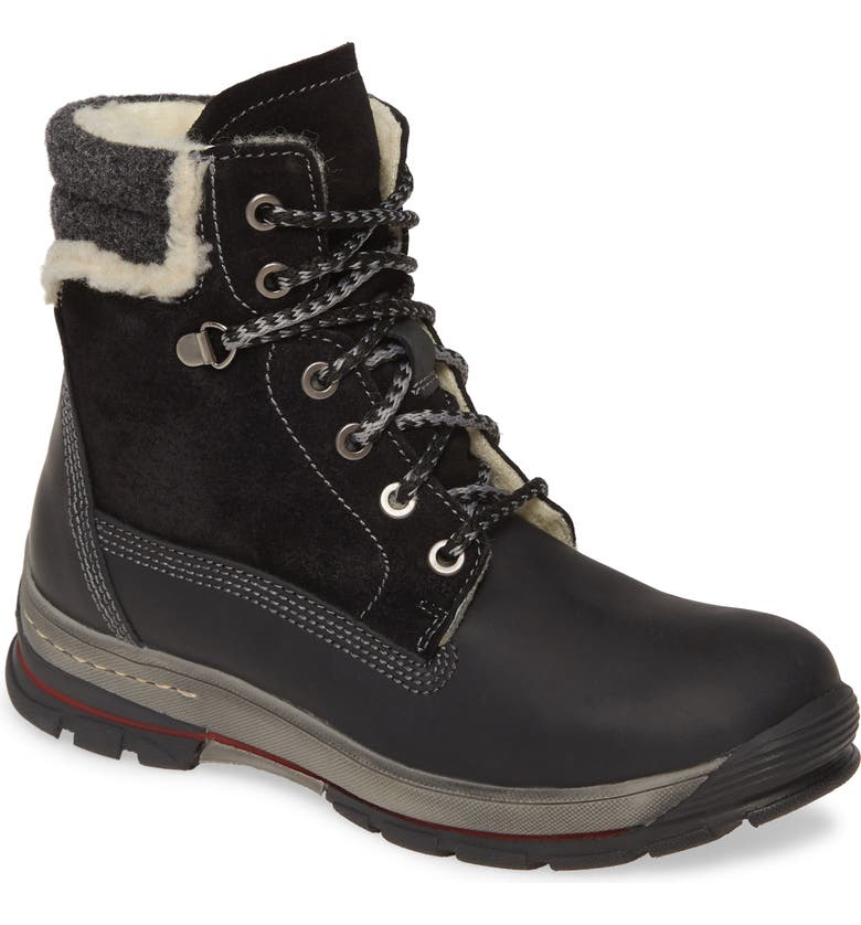 BOS. & CO. Grip Waterproof Boot, Main, color, BLACK LEATHER/ SUEDE