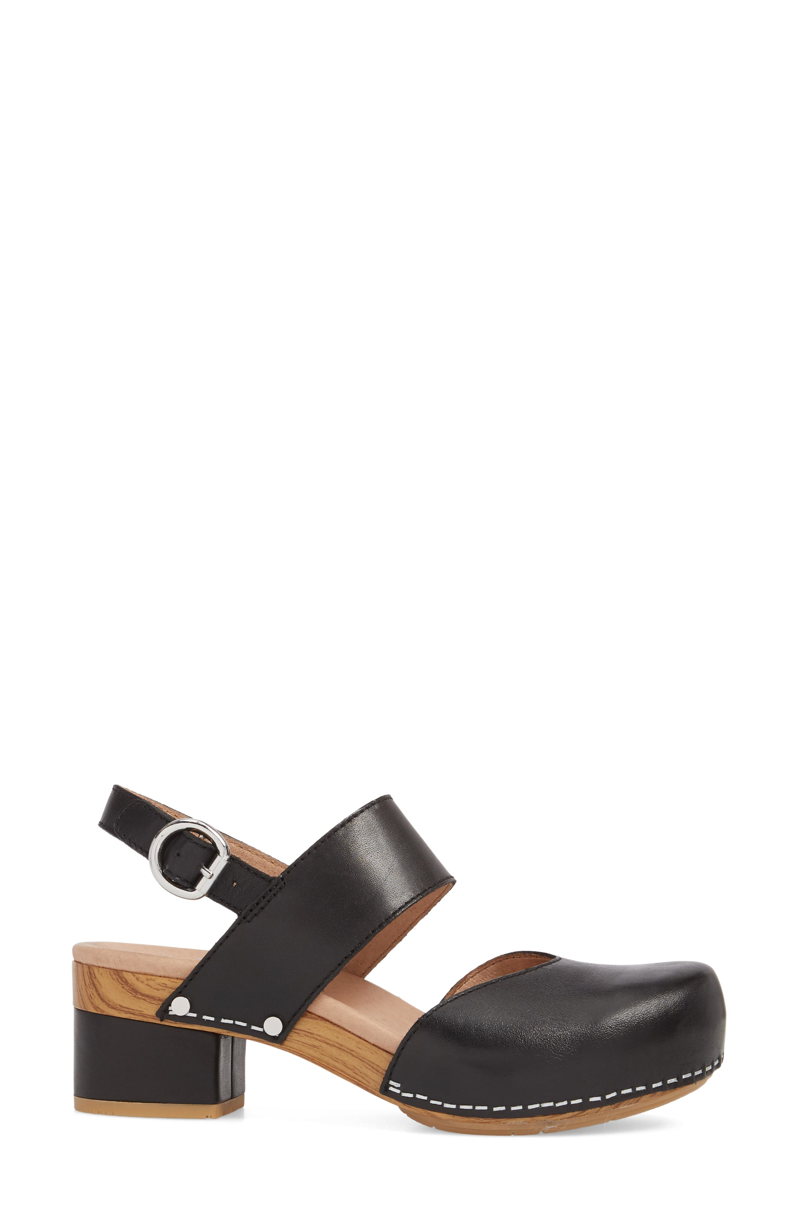 ,                             Malin Sandal,                             Alternate thumbnail 3, color,                             BLACK LEATHER