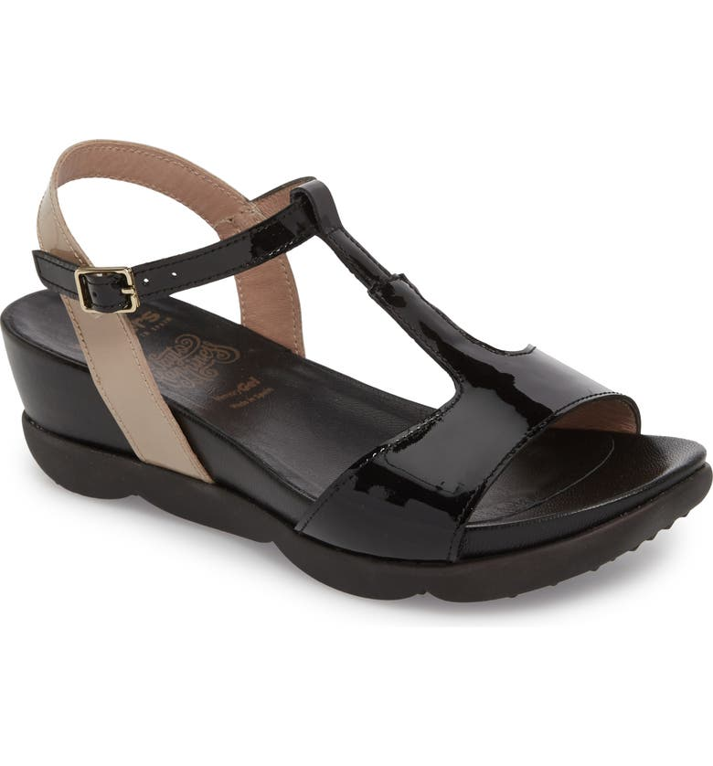 WONDERS Wedge Sandal, Main, color, 012