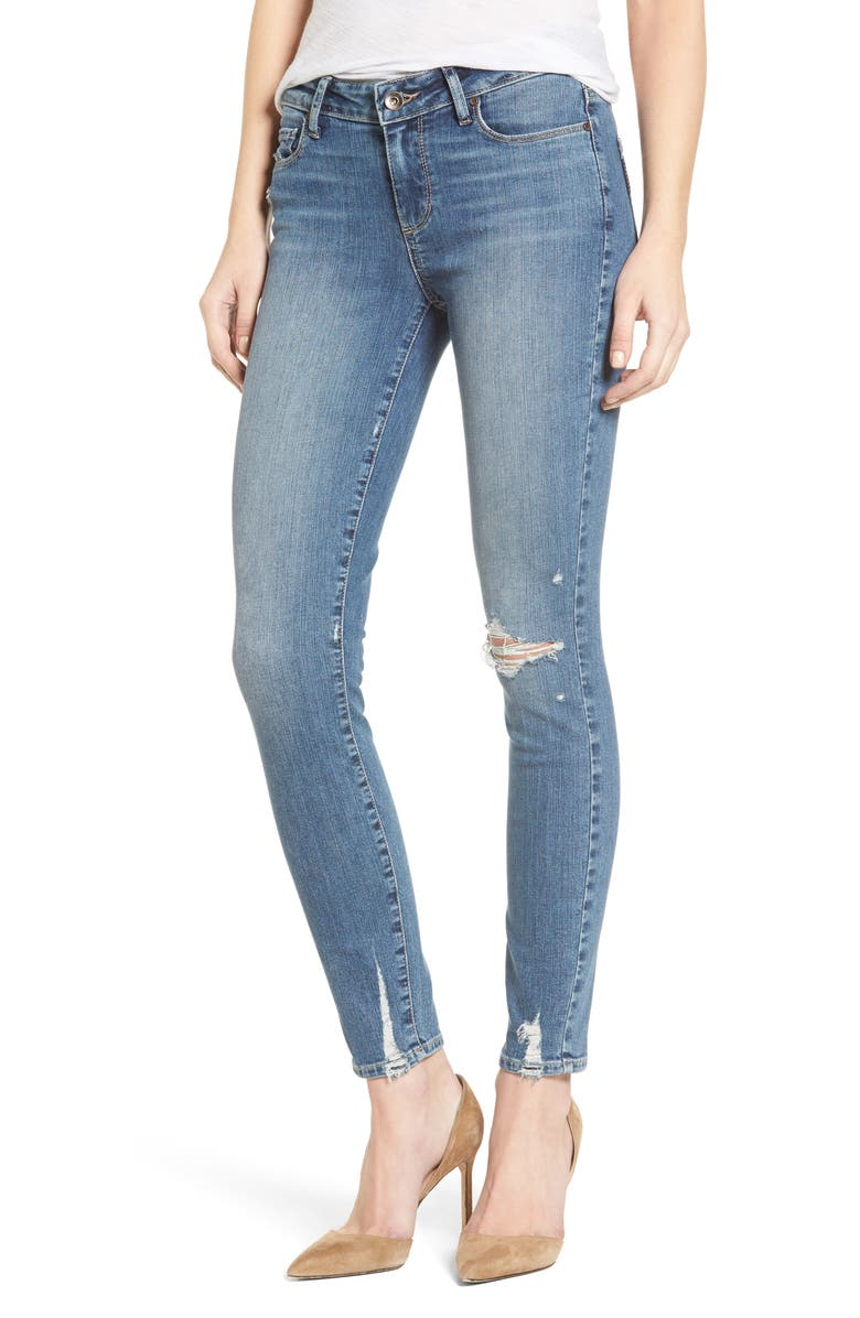PAIGE Verdugo Distressed Ultra Skinny Jeans, Main, color, 400