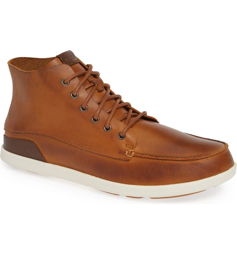 OLUKAI Nalukai Boot, Main, color, FOX/ BONE LEATHER