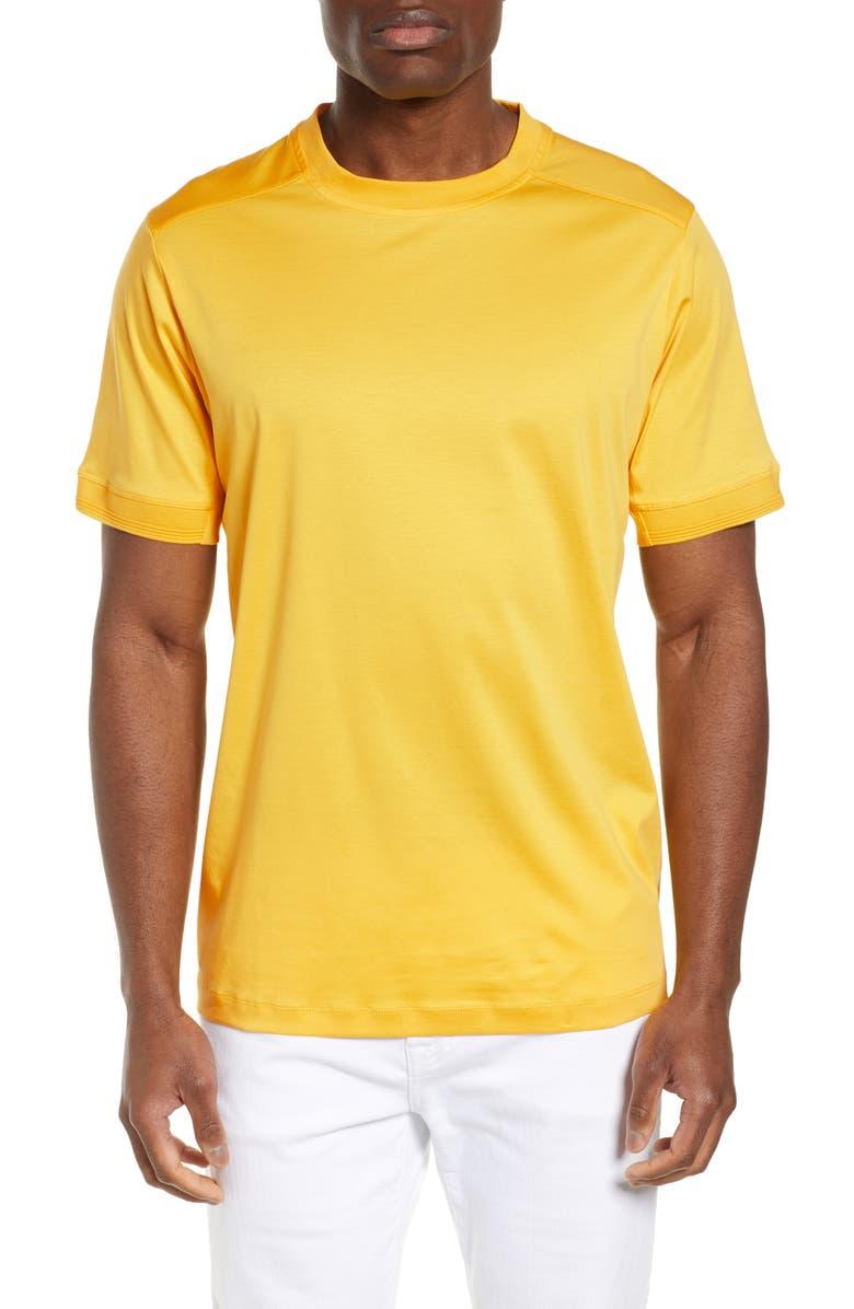 BUGATCHI Crewneck T-Shirt, Main, color, DANDELION