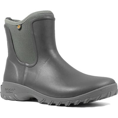 Bogs Sauvie Waterproof Chelsea Boot, Grey