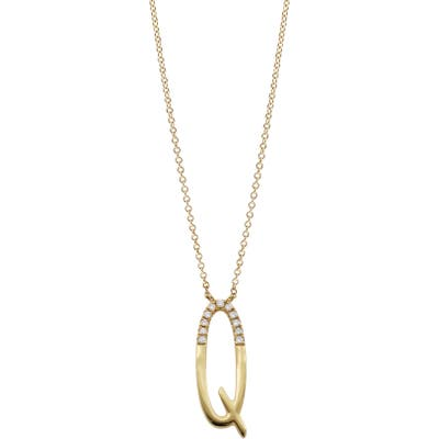 Bony Levy Diamond Initial Pendant Necklace (Nordstrom Exclusive)